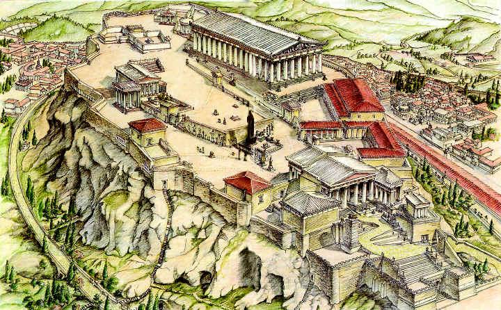 alt. Схема Афинского Акрополя